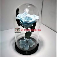Голубая роза в колбе, премиум