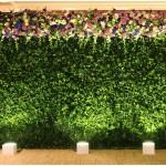 Фотозона из растений и цветов
